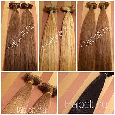 Tresszelt hajak több színben